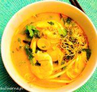 Tajska zupa warzywna na ostro