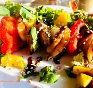 szaszłyki z krewetek z mango