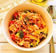 Sorgo z warzywami w pomidorach