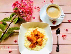 waniliowe płatki ryżowe z jabłkiem i cynamonem