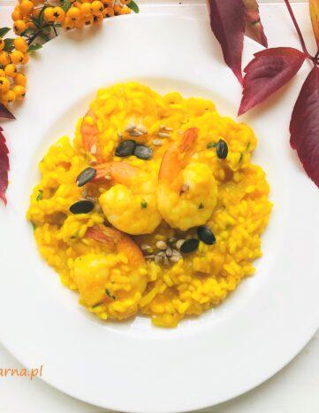 Dyniowe risotto z krewetkami
