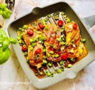 Kurczak z szynką parmeńską i mozarellą